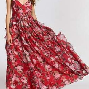 Free People, Fame and Partners Queen Ann maxi red